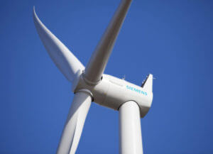 Siemens implementa Sales Cloud en México - Turbina de 3MW con rotor de 101 metros de diámetro.