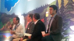 Panelistas empresariales en Dreamforce To You