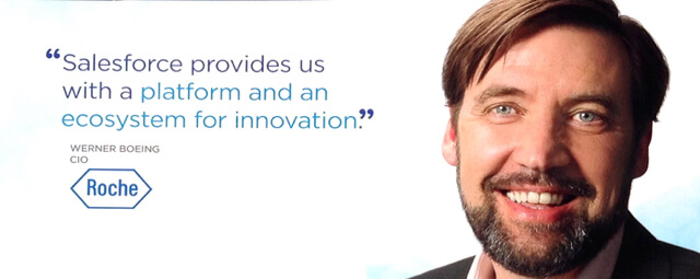 Salesforce provide us with a platform and ecosystem for innovation.
