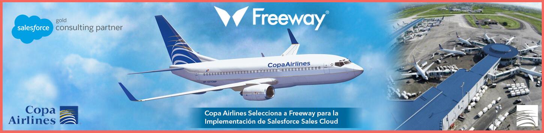 Copa Airlines Selecciona a Freeway para la Implementación de Sales Cloud de Salesforce