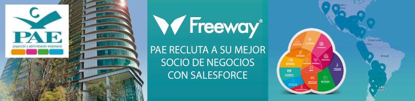 Freeway: PAE Recluta a su mejor Socio de Negocios para implementar Salesforce