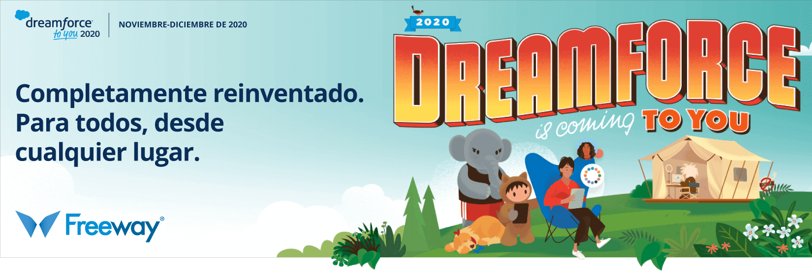 Freeway te invita a Dreamforce 2020