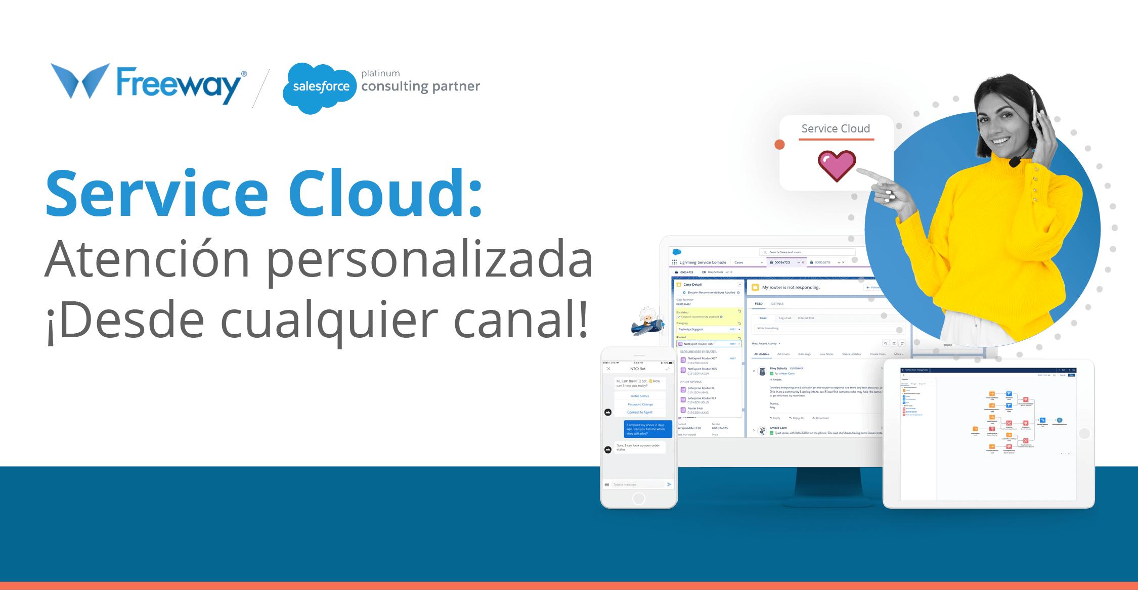Service Cloud, atención personalizada desde cualquier canal