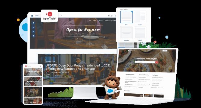 Community Cloud permite que tus clientes obtengan ayuda de manera independiente y que tus agentes trabajen de manera más inteligente con un fácil acceso a artículos, preguntas frecuentes y conocimientos colectivos de la comunidad.